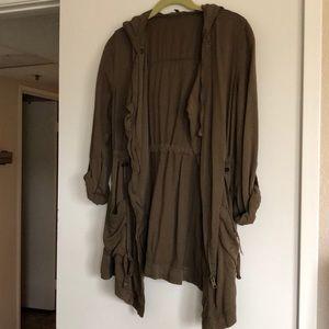Olive green layering jacket